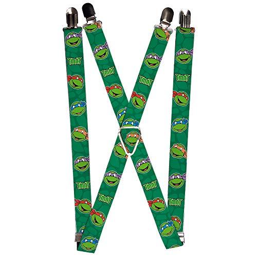 Nickelodeon Mens Buckle-Down Suspender-Ninja Turtles, Multicolor, One Size