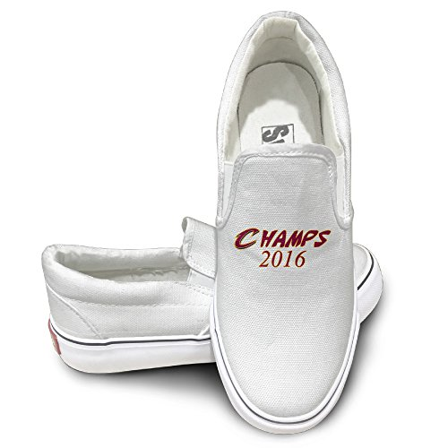 Deamoon Champse Athletic Unisex Flat Canvas Shoes Sneaker White 40
