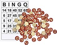 Vintage Wooden Bingo Game with 40 Bingo Number Cards and 75 Chess, for Lottery, Custom DIY Board Game