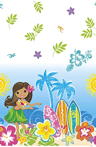 Hula Girl Luau Party Plastic Tablecloth, 84