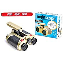 Best Children's Kids Night Scope Binocular Set Valentine Day Gift Easter Basket Stuffer Idea for Men Boys Teens Kids with COOL Slapstick