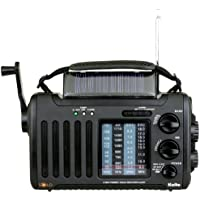 Kaito Voyager Solo KA450 Solar/Dynamo AM/FM//SW & NOAA Weather Emergency Radio with Alert & Cell Phone Charger, Jeep Style Color Black