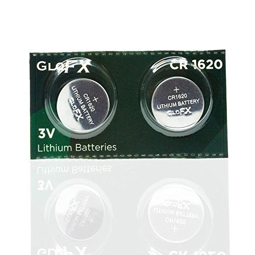 GloFX CR 1620 3v Batteries - 2 pack - button coin lithium watch battery key fob (Pack Watch Battery 2)