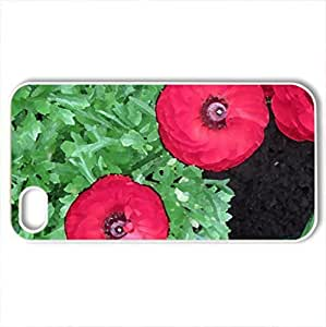 Flowers Symbolizing Friendship 28 - Case Cover for iPhone 4 and 4s (Flowers Series, Watercolor style, White)