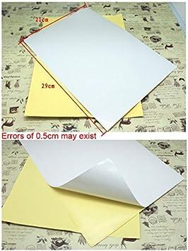 Alta qualit/à 21/x 29/cm A4/bianco lucido autoadesivo sticker retro adesivo etichetta foglio di carta per stampa a getto d inchiostro stampante laser Graphic Logistics indirizzo White
