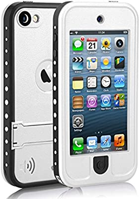 low priced 7bb6e e6089 Waterproof Case for iPod 5 iPod 6, Meritcase Waterproof Shockproof  Dirtproof Snowproof Case Cover with Kickstand for Apple iPod Touch 5th/6th  ...