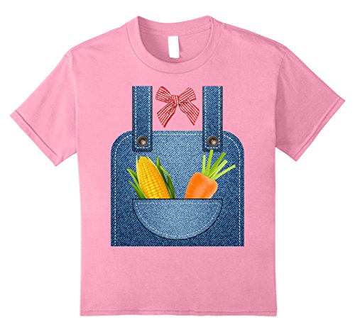 Kids Hottest Farmer Halloween Costume Ever T-shirt 10 Pink