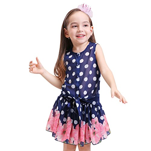 Buy belted lace and polka dot tank dress - 6