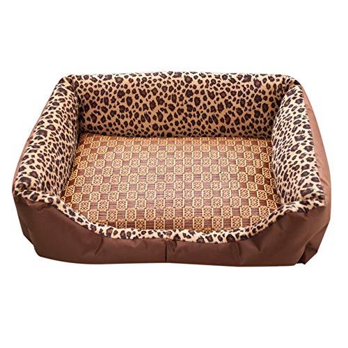 (DEESEE(TM) Small Medium Large Size Pet Dog Cat Sleeping Mat Pad Summer Cooling Cushion New (L))