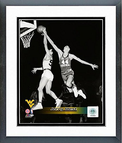 Jerry West West Virginia Mountaineers 1959 Action Photo (Size: 12.5'' x 15.5'') Framed