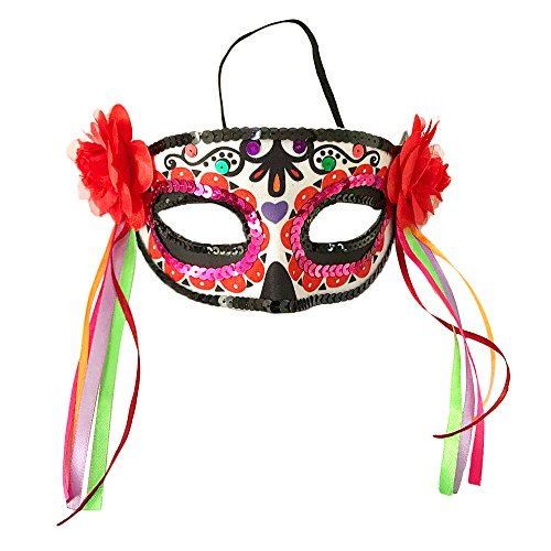 Ferytyj Day of Dead Masks Masquerade Mardi Gras Masks -