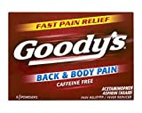 Goody's Back and Body Pain Relief Powders - Acetaminophen & Aspirin Quickly Relieve Pain Due to Headaches, Body Aches, and Fever - Caffeine Free - 24 Powders (Pack of 6)
