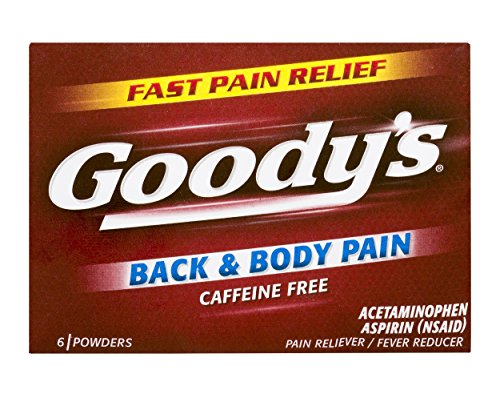Goody's Back and Body Pain Relief Powders - Acetaminophen & Aspirin Quickly Relieve Pain Due to Headaches, Body Aches, and Fever - Caffeine Free - 24 Powders (Pack of (Back Powder)