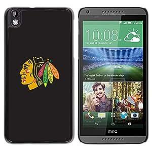 EJOY---Cubierta de la caja de protección la piel dura para el / HTC DESIRE 816 / --Blackhawk nativo jefe indio americano