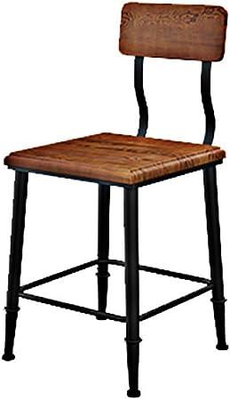 Sillas Retro Americanas, Mesa de Comedor de Hierro Forjado, mesas y sillas de Madera rústicas y Antiguas, sillas y mesas de Bar.WSY: Amazon.es: Hogar