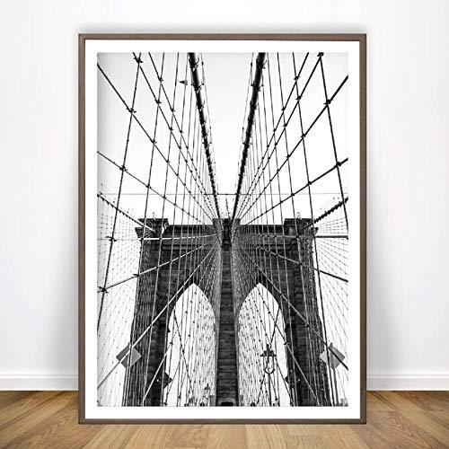 liwendi Nueva York Cartel Blanco Negro Puente De Brooklyn ...