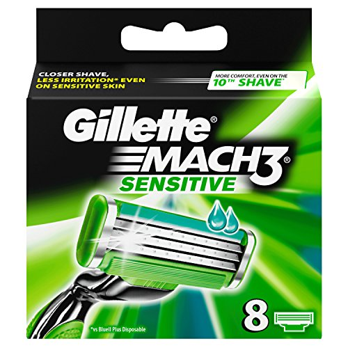 Gillette Mach 3 Sensitive Power Razor Blades - (Pack of 8)