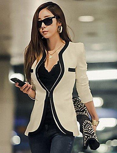 CBIN & HUA cuello redondo bodycon estilo coreano abrigos delle donne biouti, white-s