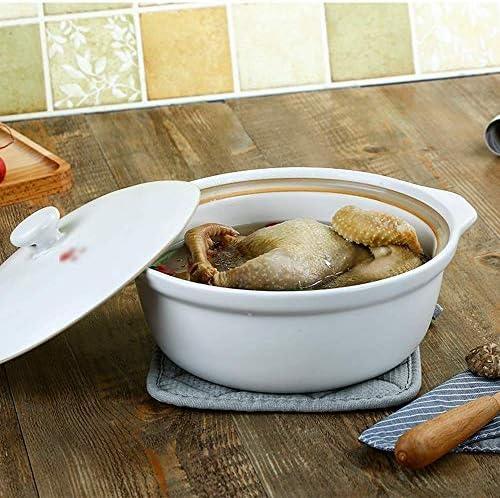 Casserole Set vaisselle avec couvercle, 1 pièce, marmite à soupe Faïence pot d'argile grande capacité Casserole QIANGQIANG