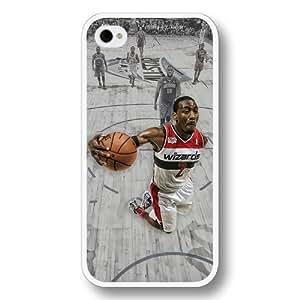 Onelee(TM)- Customized Personalized White Hard Plastic iPhone 4/4S Case, NBA Superstar Washington Wizards John Wall iPhone 4/4S case, Only Fit iPhone 4/4S case