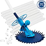 Cirocco Automatic Vacuum Swimming Pool Cleaner Set Suction Inground Above Ground Side Climb Wall w 10 Hose Inline Valve   Easy Install Quite No Corner Stuck Save Time for All Shallow Deep Vinyl Pool