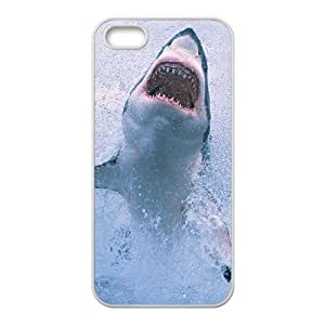 Diy Scary Shark Phone Case For Ipod Touch 4 Cover White Shell Phone JFLIFE(TM) [Pattern-4]