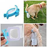 NUMBERNINE - Pet Dog Cat Food Water Snack Cup Bottle Feeder Container Outdoor Travel 700ML - Cat Food Container (Blue&Pet Waste Picker Clip)
