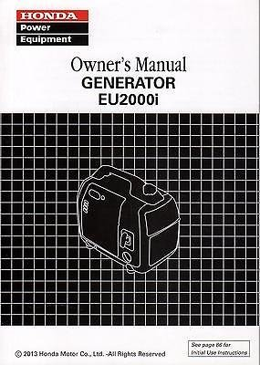 honda eu2000i parts manual download