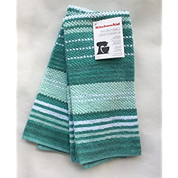 AQUA KitchenAid KITCHEN TOWELS 2 PACK DURABLE ABSORBENT COTTON TERRY 16X26