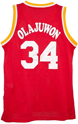 Hakeem Olajuwon Houston Rockets Adidas NBA Throwback Swingman Jersey – Red – DiZiSports Store