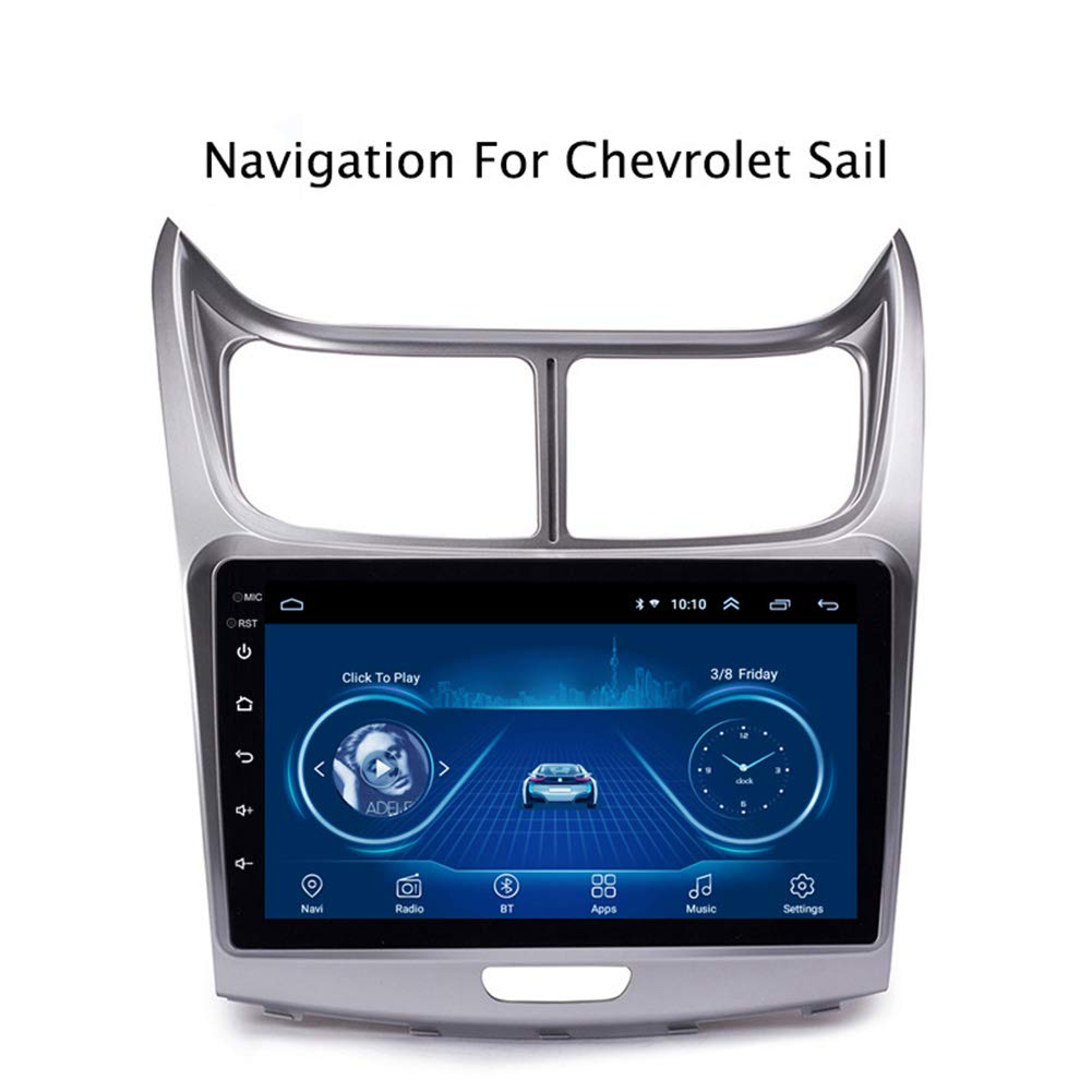 Foof GPS Navigation for Car for Chevrolet SAil 2010-2013 North America Easy Installation Support Receiver Video Player FM Radio Mp3 MP5 /TF/USB/AUX/Rear Camera,Wifi1g+16g by Foof