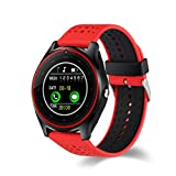 Rumas V9 0.3M Camera Smart Watch with Sleep Minitor - 4.0 BLE 380mAh 1.22'' inch Screen - Pedometer Sport Activity Monitor Mate Smart Bracelet (Red)