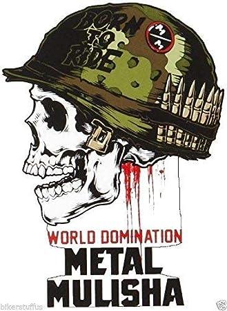 "METAL MULISHA Wrench Head Sticker 3/"" motocross skateboard bike decal skate"
