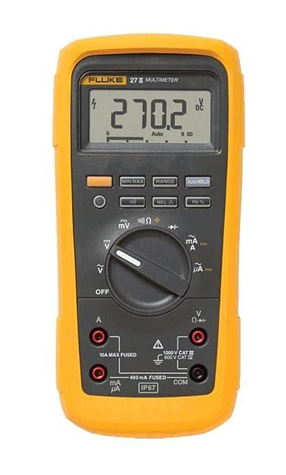 amazon com fluke 27ii avg multimeter 1000v ac dc voltage 10a rh amazon com Fluke Data Logger Fluke Multimeter Probes