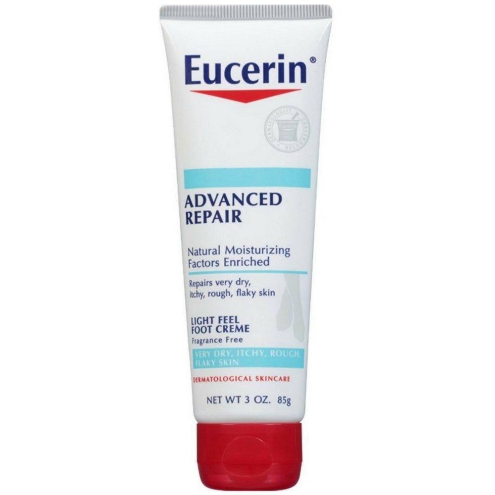 Eucerin Advanced Repair Light Feel Foot Creme, 3 oz