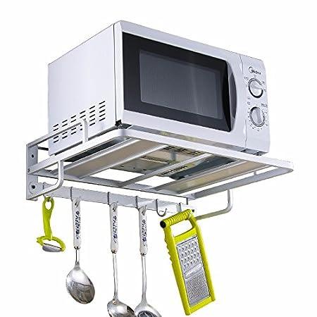 SDKKY Espacio de Cocina de Aluminio Gancho Colgando el Horno ...