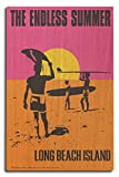 Long Beach Island, New Jersey - The Endless Summer - Original Movie Poster (10x15 Wood Wall Sign, Wall Decor Ready to Hang)