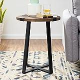 WE Furniture AZF18MWSTDW Side Table, Dark Walnut