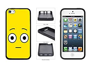 Bright Yellow Shocked Smiley Face TPU RUBBER SILICONE Phone Case Back Cover Apple iPhone 5c