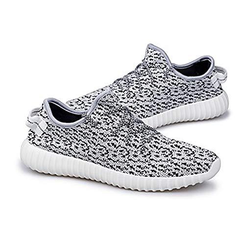 Talon Kaki Gris Tulle Chaussures Eté Rond Gray Pied US5 Bout EU36 5 Tricot À 5 Course Noir Basket CN35 Confort Automne Plat Femme UK3 vaCqZ