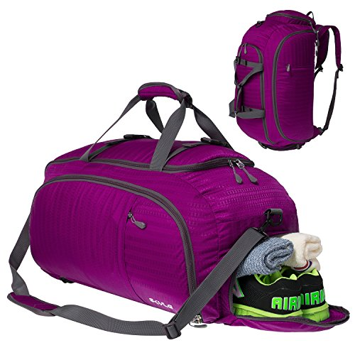 3-Way Travel Duffel Backpack Travel Luggage Gym Sports Bag with Shoe Compartment for Men and Women from SKYLE