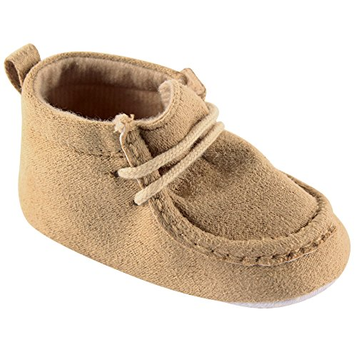 Luvable Friends Boy's Faux Suede Boot (Infant), Tan, 12-18 Months M US Infant