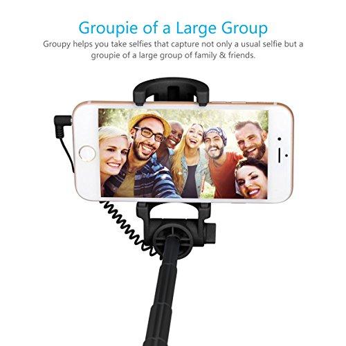 Portronics POR 853 Groupy Portable Wired Selfie Stick (Black)