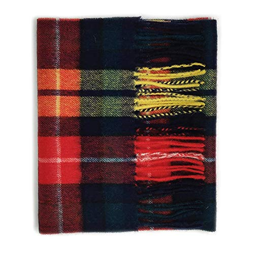 Kiltane of Scotland 100% Lambswool Ultra Soft Touch Tartan Scarf- Designed in Scotland (4678- Buchanan Modern)