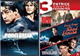 Patrick Swayze Action DVD Point Break & Red Dawn / Road House & Youngblood Movie 80's Set