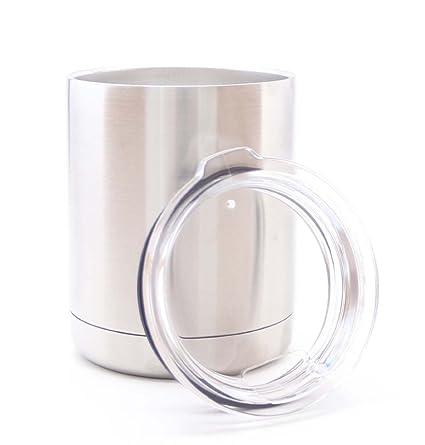 3cbce740f77 Amazon.com | Stainless Steel 10 oz Tumbler MEGA 10 LOWBALL Premium ...