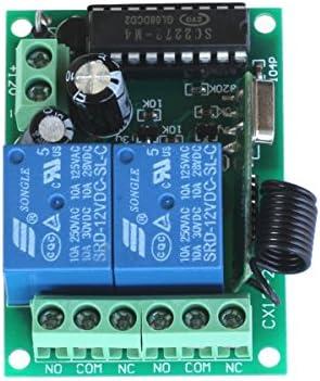 Pixnor - Mando a distancia universal e inalámbrico para puerta de garaje + transmisor, 12V 10A: Amazon.es: Electrónica