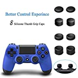 YOUSHARES Vertical Stand with Dual Cooling Fan with 3 Extra USB Port for Playstation 4, DualShock 4 Controllers and 8 Controller Grip Cover Caps