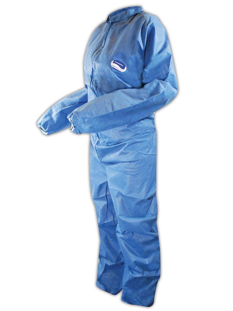 Kimberly-Clark 58507 KleenGuard Coverall W/Elastic Wrist/Ankle, 4X-Large, Blue (Pack of 20)