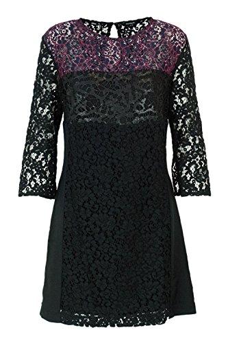 Desigual Noir Courte Femme Robe Onega Vest 18wwvw38 wZFvw0q